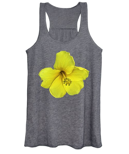 Yellow Hibiscus Women's Tank Top