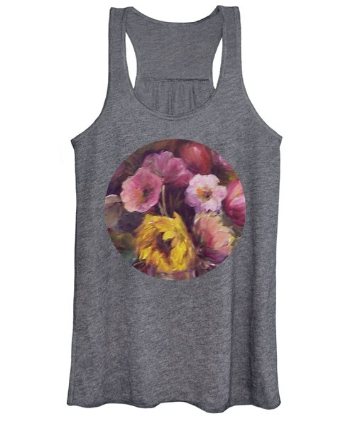 Abundance- Floral Painting Women's Tank Top