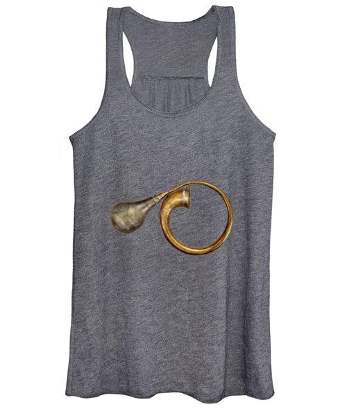 Antique Brass Car Horn Women's Tank Top