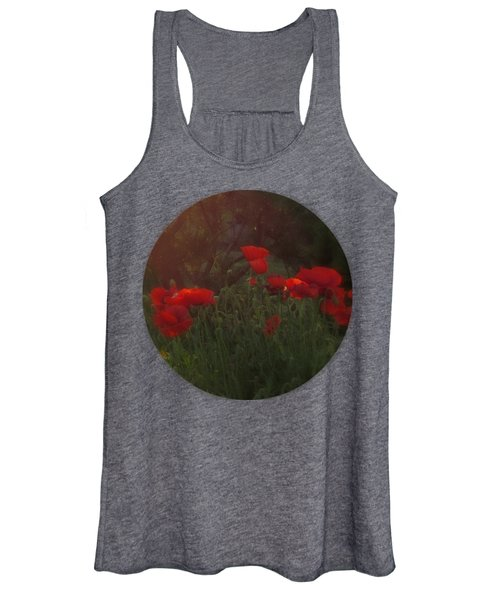 Sunset In The Poppy Garden Women's Tank Top