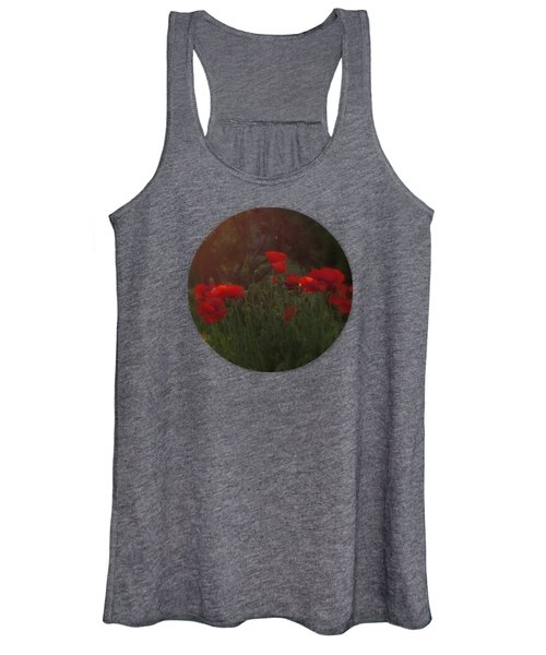 Sunset In The Poppy Garden Women's Tank Top