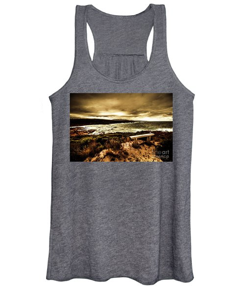 Atmospheric Beach Artwork Women's Tank Top