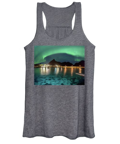 Aurora Above Turquoise Waters Women's Tank Top