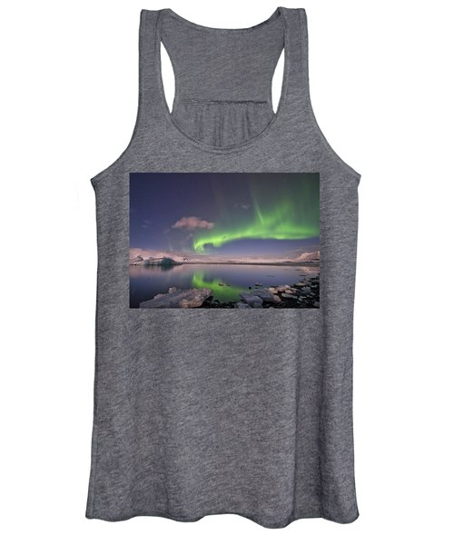 Aurora Borealis And Reflection #2 Women's Tank Top