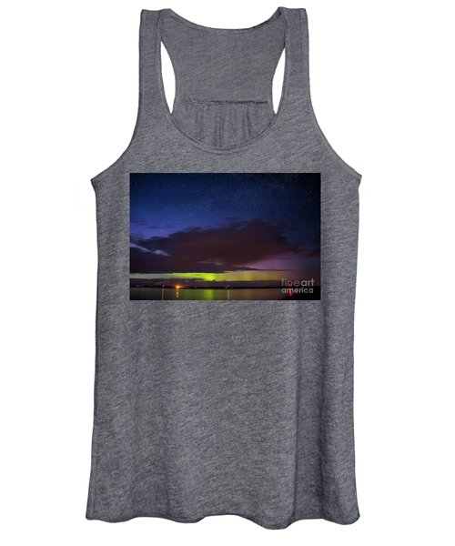 Auroras Over Lake Women's Tank Top