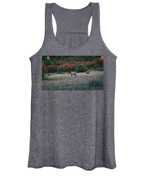 Autumn Bull Elk Women's Tank Top