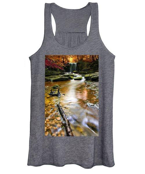 Autumnal Waterfall Women's Tank Top