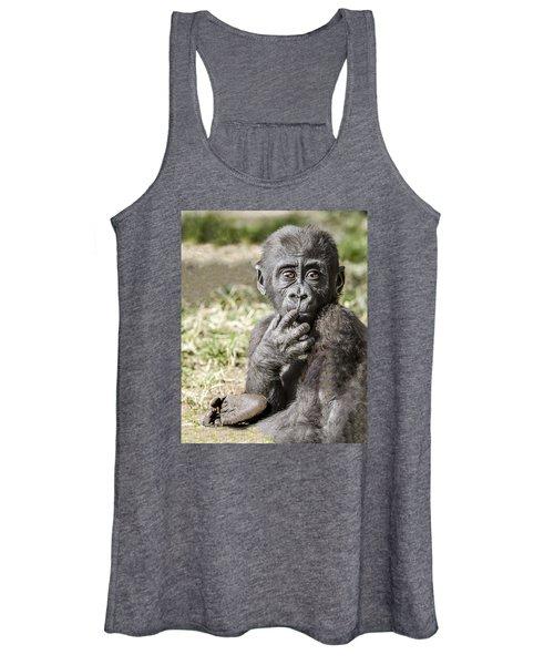 Baby Gorilla Portrait Women's Tank Top