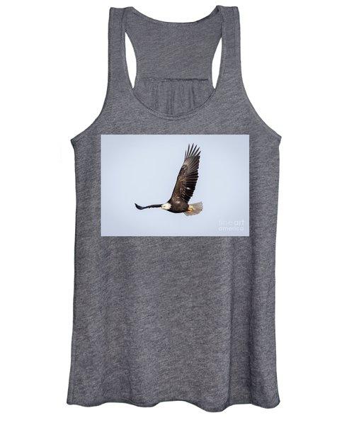 Bald Eagle Flying Over Horicon Marsh Women's Tank Top