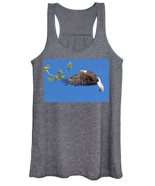 Bald Eagle In Flight 4-25-17 Women's Tank Top