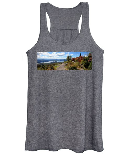 Bald Mountain Autumn Panorama Women's Tank Top