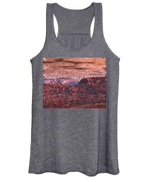 Banded Canyon Abstract Women's Tank Top