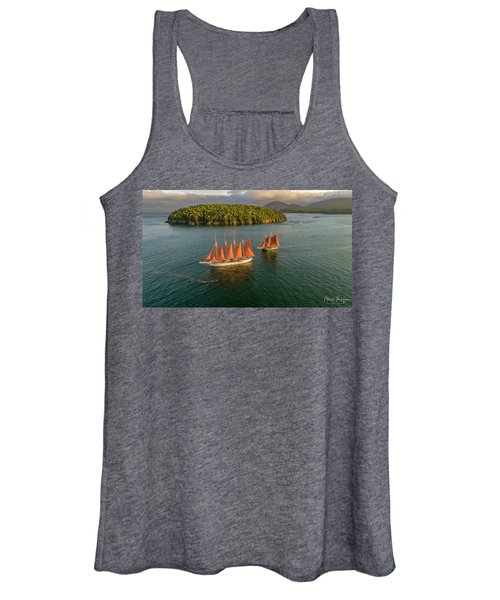Sailing Thru Life The Downeast Way Women's Tank Top