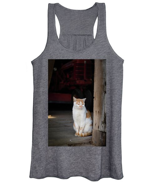 Barn Cat And Tractor Women's Tank Top
