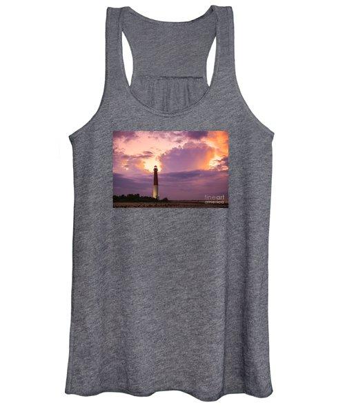 Barnegat Lighthouse Stormy Sunset Women's Tank Top