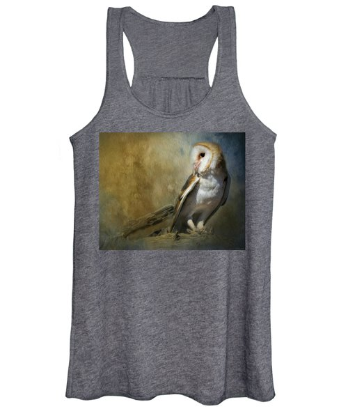 Bashful Barn Owl Women's Tank Top