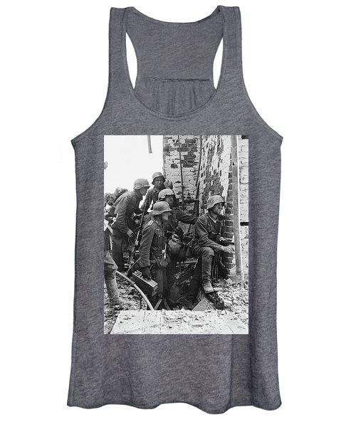 Battle Of Stalingrad  Nazi Infantry Street Fighting 1942 Women's Tank Top