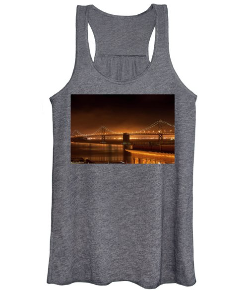 Bay Bridge At Night Women's Tank Top