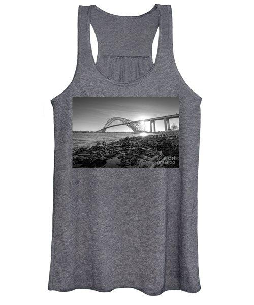 Bayonne Bridge Black And White Women's Tank Top