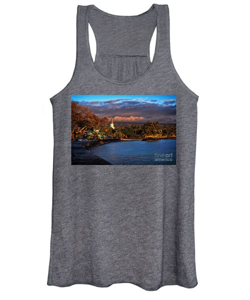 Beach Town Of Kailua-kona On The Big Island Of Hawaii Women's Tank Top