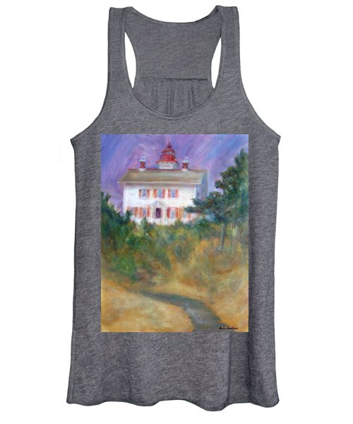 Beacon On The Hill - Lighthouse Painting Women's Tank Top