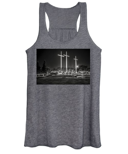 Bearing Witness In Black-and-white Women's Tank Top