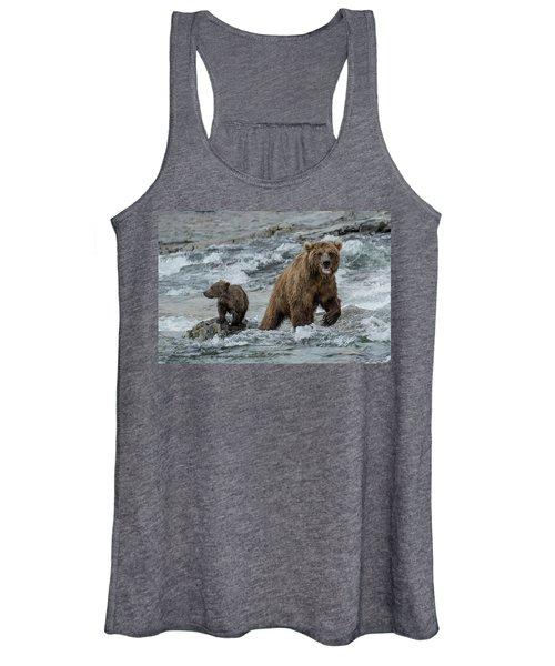 Bears Being Watchful  Women's Tank Top
