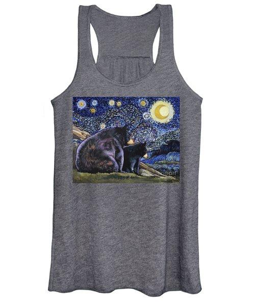 Beary Starry Nights Too Women's Tank Top