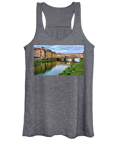 Ponte Vecchio On A Spring Day In Florence, Italy Women's Tank Top