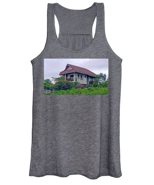 Beautiful Thatched Roof Home Women's Tank Top