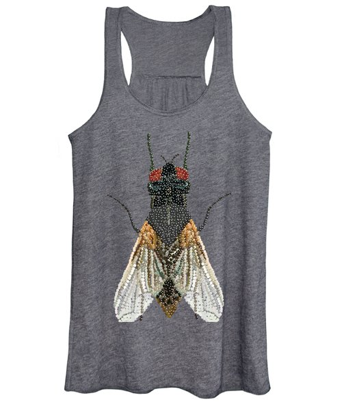 Bedazzled Housefly Transparent Background Women's Tank Top