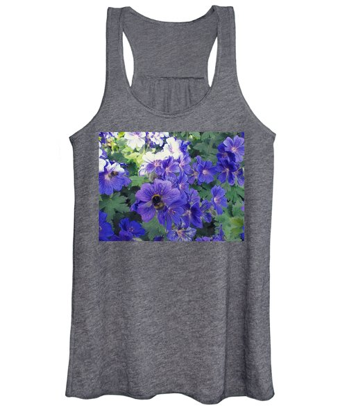 Bees And Flowers Women's Tank Top