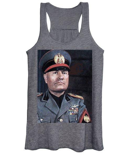 Benito Mussolini Color Portrait Circa 1935 Women's Tank Top