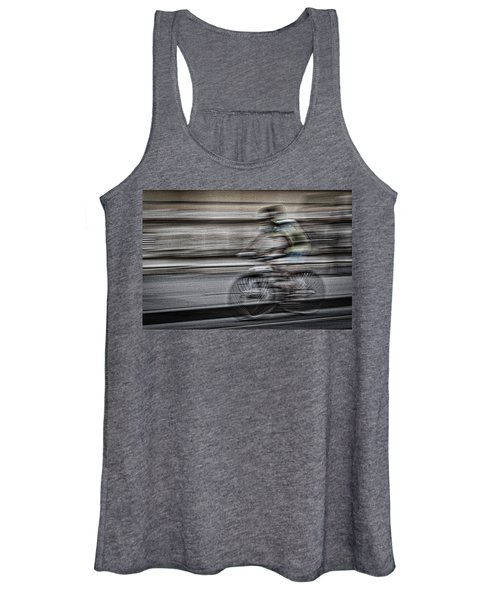 Bicycle Rider Abstract Women's Tank Top