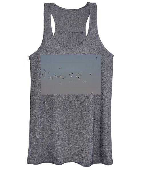 Birds And Airplane Women's Tank Top