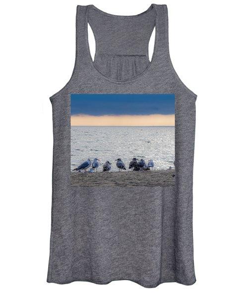 Birds On A Beach Women's Tank Top
