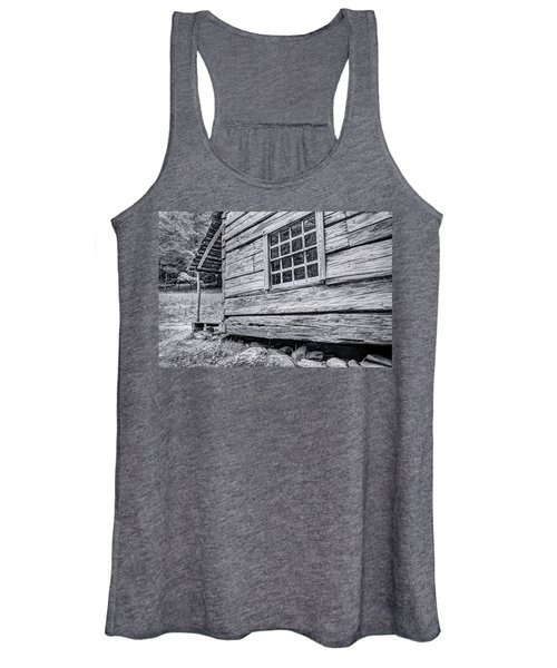 Black And White Cabin In The Forest Women's Tank Top