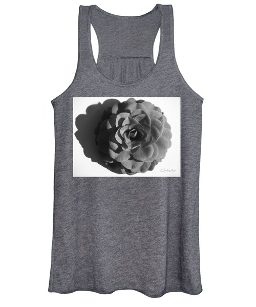Camellia In Black And White Women's Tank Top