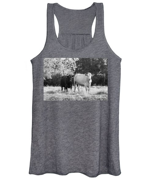 Black And White Cows Women's Tank Top