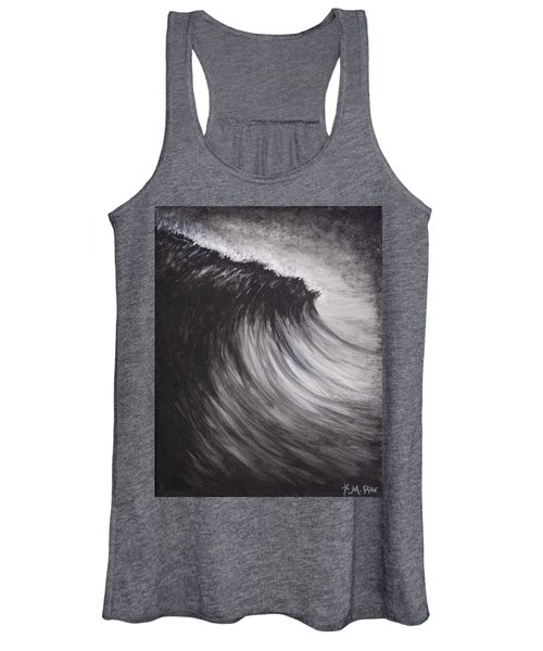 Black And White Wave Guam Women's Tank Top
