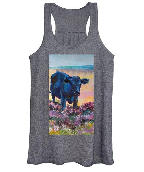 Black Cow On Dartmoor - Looking Moody Women's Tank Top
