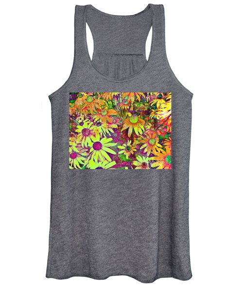 Black-eyed Susan   Abstract  Women's Tank Top