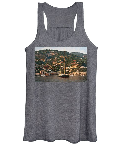Black Sailboat At Villefranche II Women's Tank Top