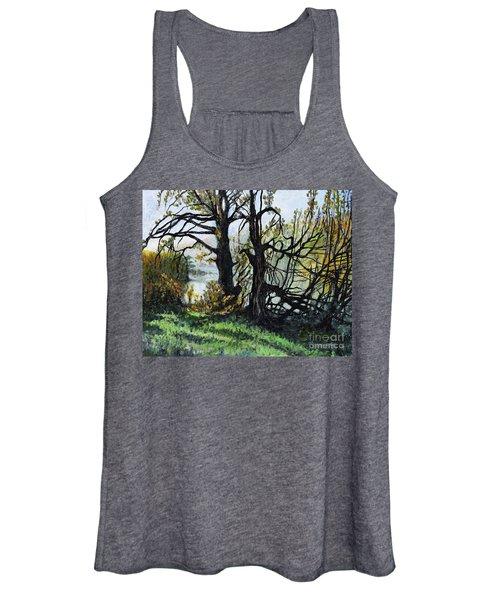 Black Trees Entanglement Women's Tank Top