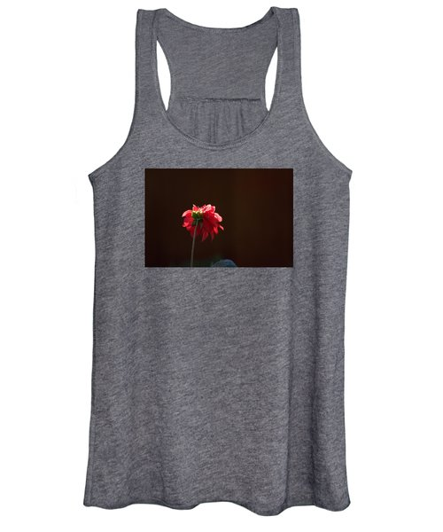 Black With Rose Women's Tank Top