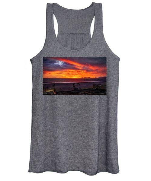 Blazing Sunset Over Malibu Women's Tank Top