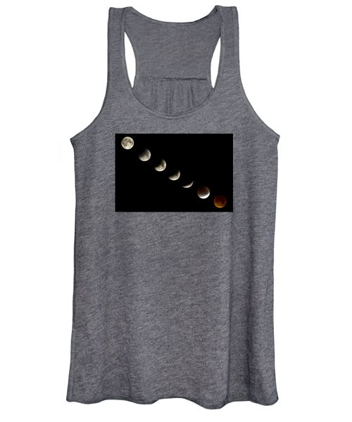 Bloodmoon Lunar Eclipse With  Phases Composite Women's Tank Top