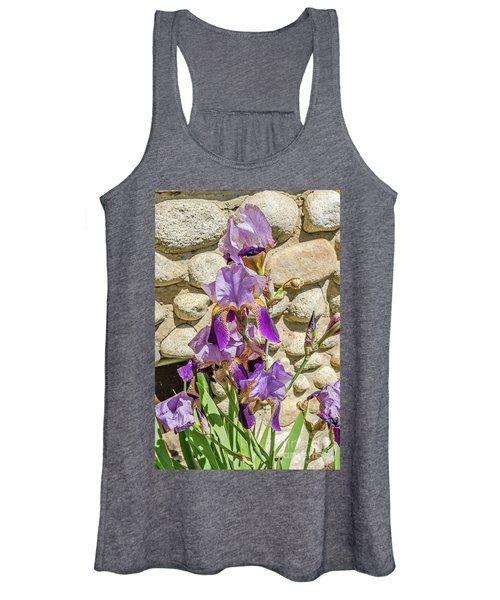 Blooming Purple Iris Women's Tank Top