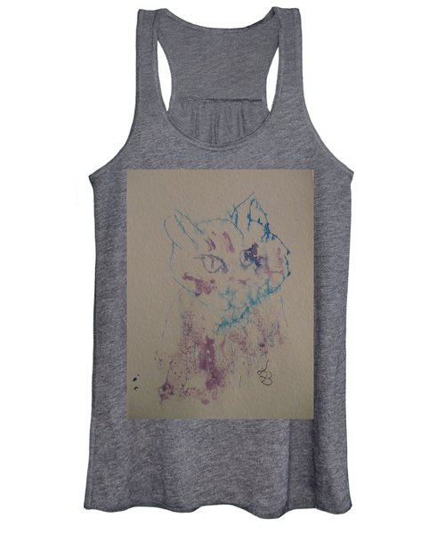 Blue And Purple Cat Women's Tank Top