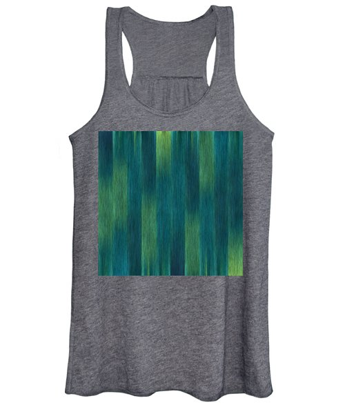 Blue Green Abstract 1 Women's Tank Top